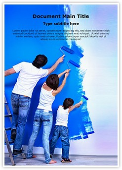 Painting Editable Word Template