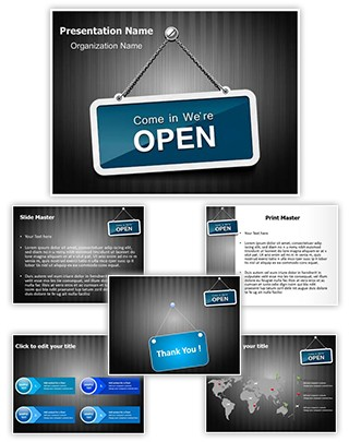 We Are Open Editable PowerPoint Template