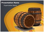 Winery Wine Barrel Editable PowerPoint Template