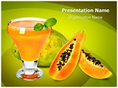 Papaya Juice Editable PowerPoint Template