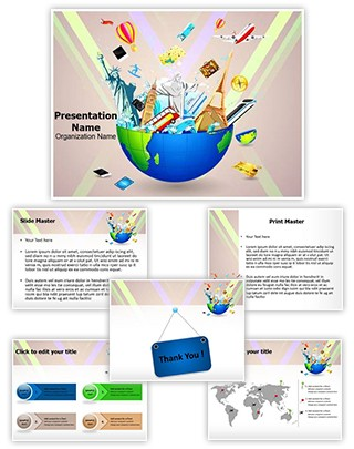 World Famous Monuments Editable PowerPoint Template