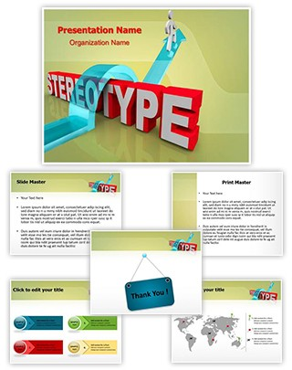 Overcoming Stereotyping Editable PowerPoint Template