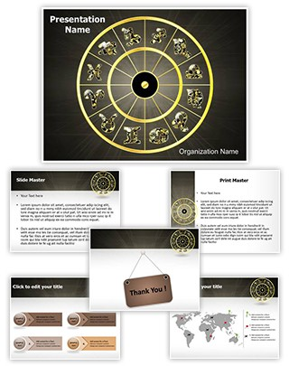 Zodiac Signs Editable PowerPoint Template