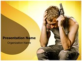 Teen Suicide Editable PowerPoint Template