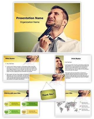 Suicide Editable PowerPoint Template