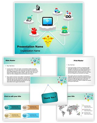 Healthcare Medicine Cloud Computing Editable PowerPoint Template