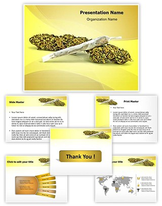Cannabis Editable PowerPoint Template