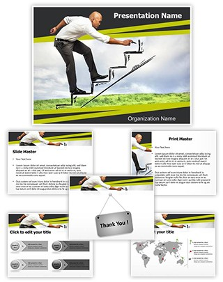 Career Growth Editable PowerPoint Template