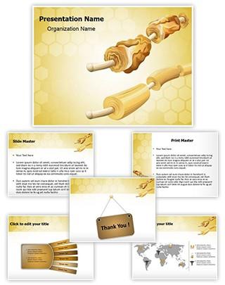 Myelin Sheaths Editable PowerPoint Template
