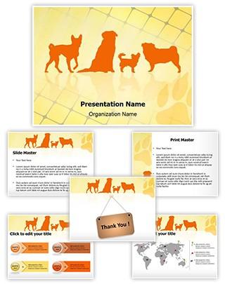 Pet Dog Breeds Editable PowerPoint Template
