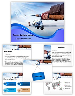Lake Fishing Editable PowerPoint Template