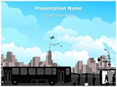Transportation Bus Station Editable PowerPoint Template