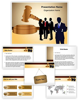 Business Law Editable PowerPoint Template