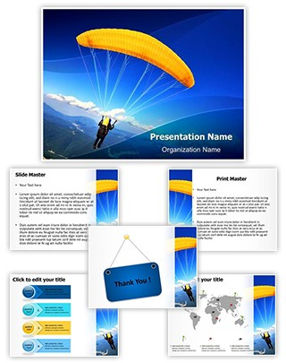 Paragliding Editable PowerPoint Template
