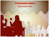 Drinking Dining Restaurant Editable PowerPoint Template
