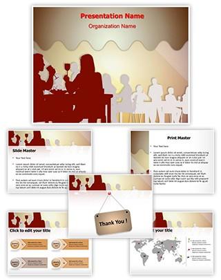 Drinking Dining Restaurant Editable PowerPoint Template