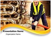 Pipeline Craftsman Editable PowerPoint Template