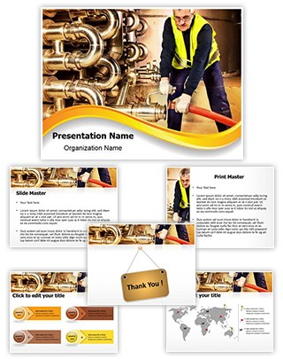 Pipeline Craftsman Editable PowerPoint Template