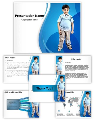 Professional obesity in children editable powerpoint template for Childhood obesity powerpoint templates