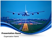 Plane Runway Editable PowerPoint Template
