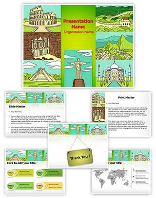 Heritage World 7 Wonders Editable PowerPoint Template