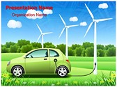 Hybrid Car Editable PowerPoint Template