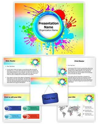 India Holi Festival Editable PowerPoint Template