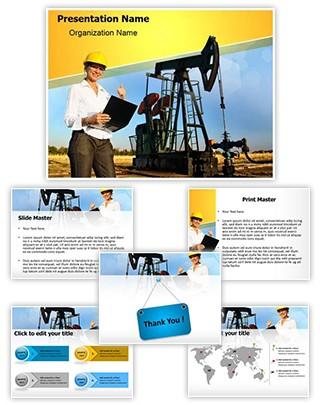 Engineer Oilfield Editable PowerPoint Template