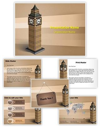 London Big Ben Tower Editable PowerPoint Template