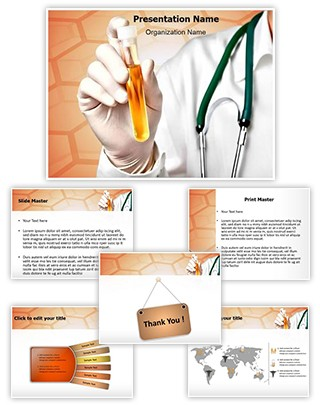 Urine Analysis Editable PowerPoint Template
