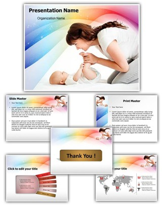 Baby Care Editable PowerPoint Template