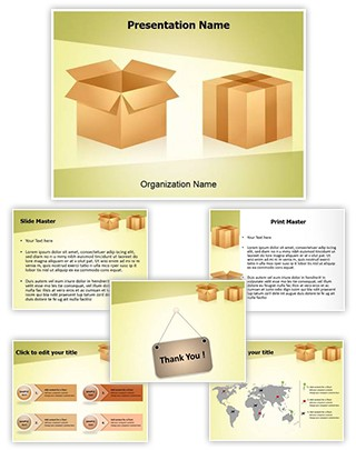 Merchandise Shipping Editable PowerPoint Template