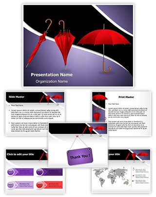 Fashion Umbrellas Editable PowerPoint Template