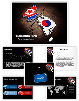 Korean Crisis Editable PowerPoint Template