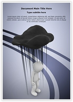 Black Cloud Editable Word Template