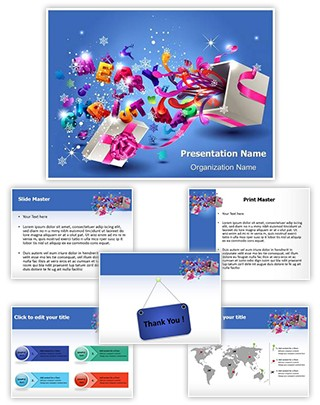 Gift Box Editable PowerPoint Template