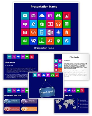 Computer Applications Editable PowerPoint Template