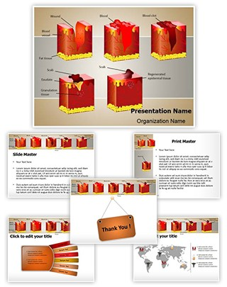 Dermatology Wound Healing Editable PowerPoint Template