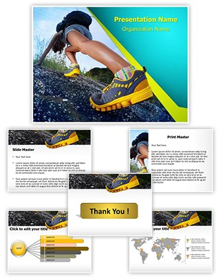 Hiking Shoes Editable PowerPoint Template