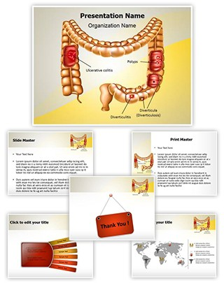 Digestive Colon Pathologies Editable PowerPoint Template