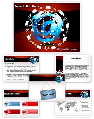 Email Marketing Communication Editable PowerPoint Template