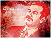 Saddam Hussain Editable PowerPoint Template