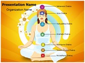 Yoga Lotus Position Seven Chakras PowerPoint Templates