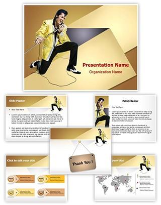 Style Elvis Presley Editable PowerPoint Template