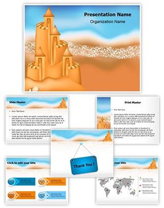 Beach Summer Holiday Editable PowerPoint Template