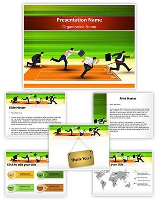 Business Competition Winner Editable PowerPoint Template