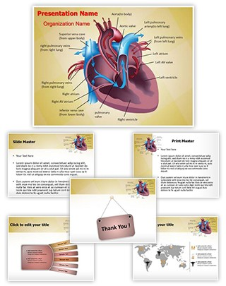 Cardiovascular Blood Pathway Editable PowerPoint Template