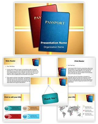Citizenship Passports Editable PowerPoint Template
