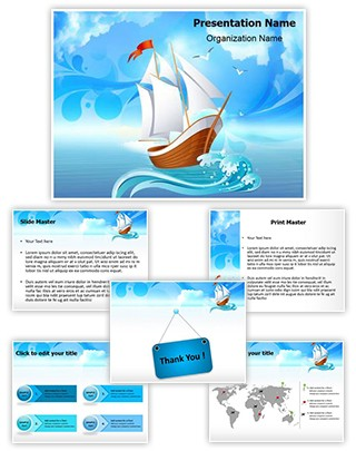 Sailboat Transportation Editable PowerPoint Template