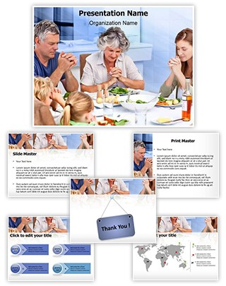 Family Meal Prayer Editable PowerPoint Template